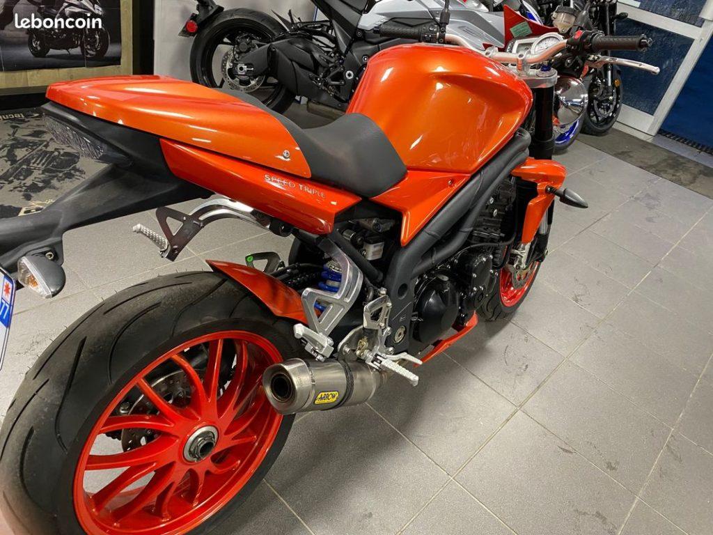 Triumph-Speed-Triple-1050-2008-Orange-Occasion-Arriere-Droit